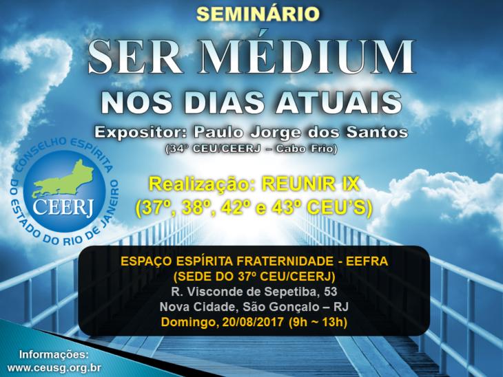 RJ-São Gonçalo-EEFRA (Cartaz_Seminario_Mediunidade_REUNIR_IX_2017)