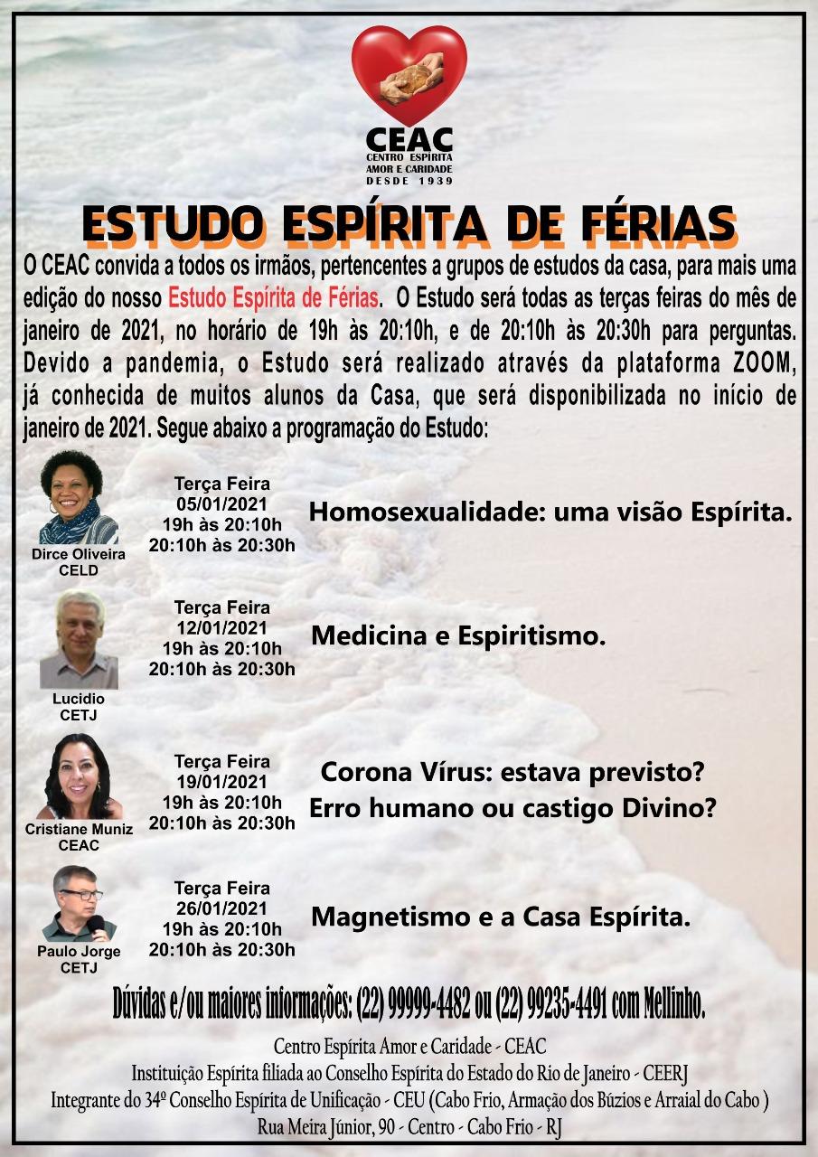 MAGNETISMO E A CASA ESPÍRITA (Minisseminário) RJ-Cabo Frio-CEAC